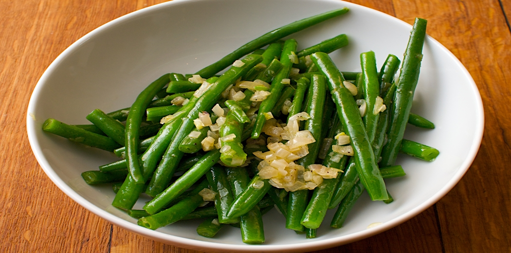 Healthy Green bean with Shallots side