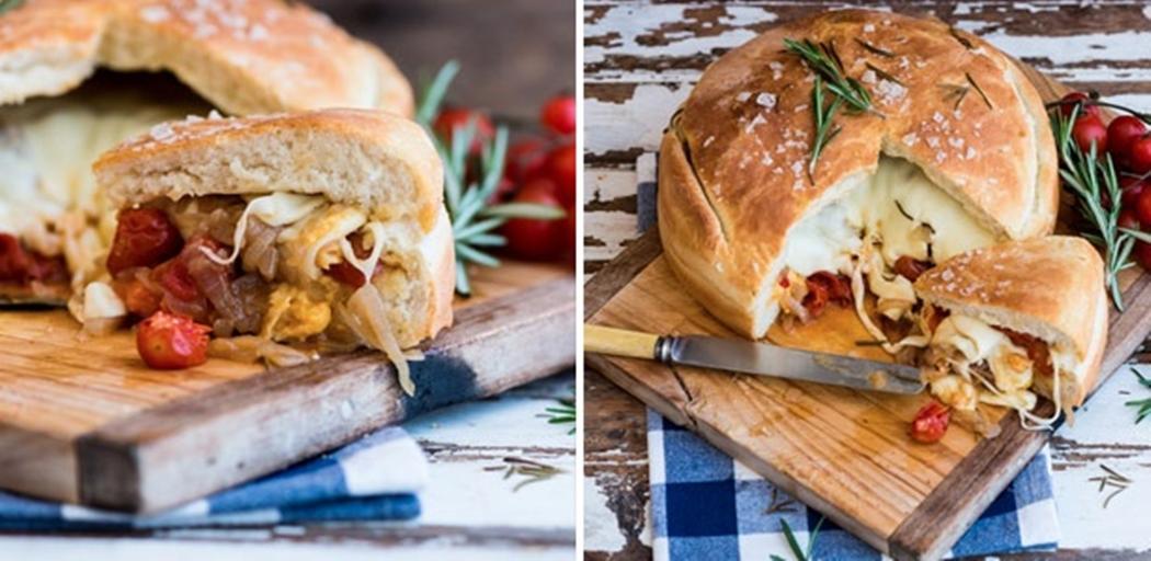 Gourmet stuffed braai loaf